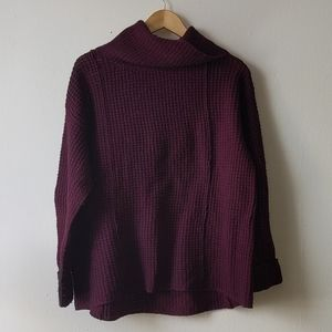 Free People Wool waffle knit turtle neck sweater S